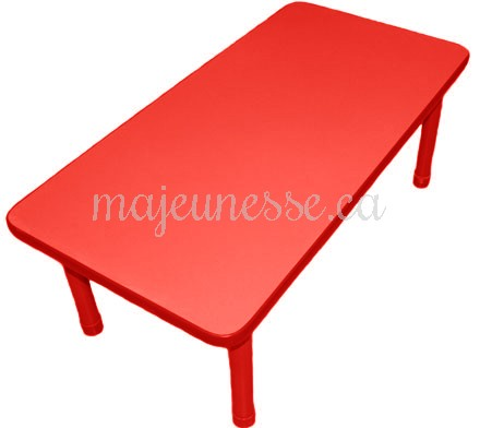 table 6 places rouge hauteur ajustable tables chaises. Black Bedroom Furniture Sets. Home Design Ideas