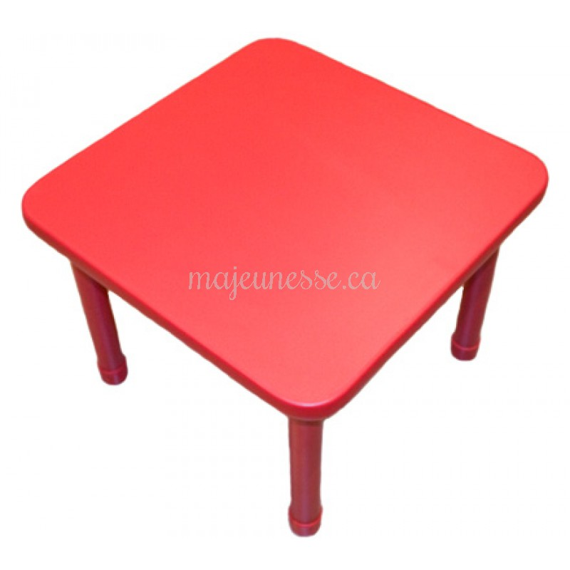 Table 4 places rouge 50 cm tables tables chaises for Table 4 places