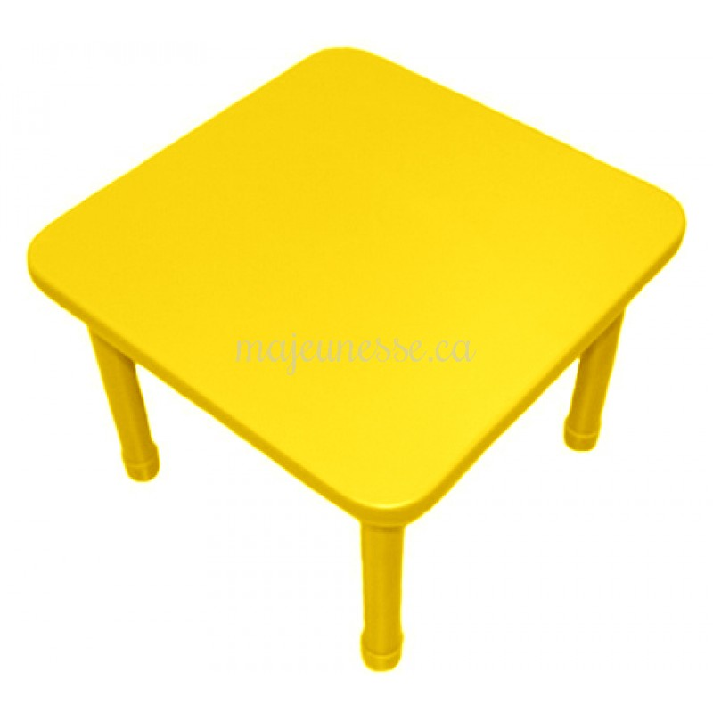 table 4 places jaune hauteur ajustable tables. Black Bedroom Furniture Sets. Home Design Ideas