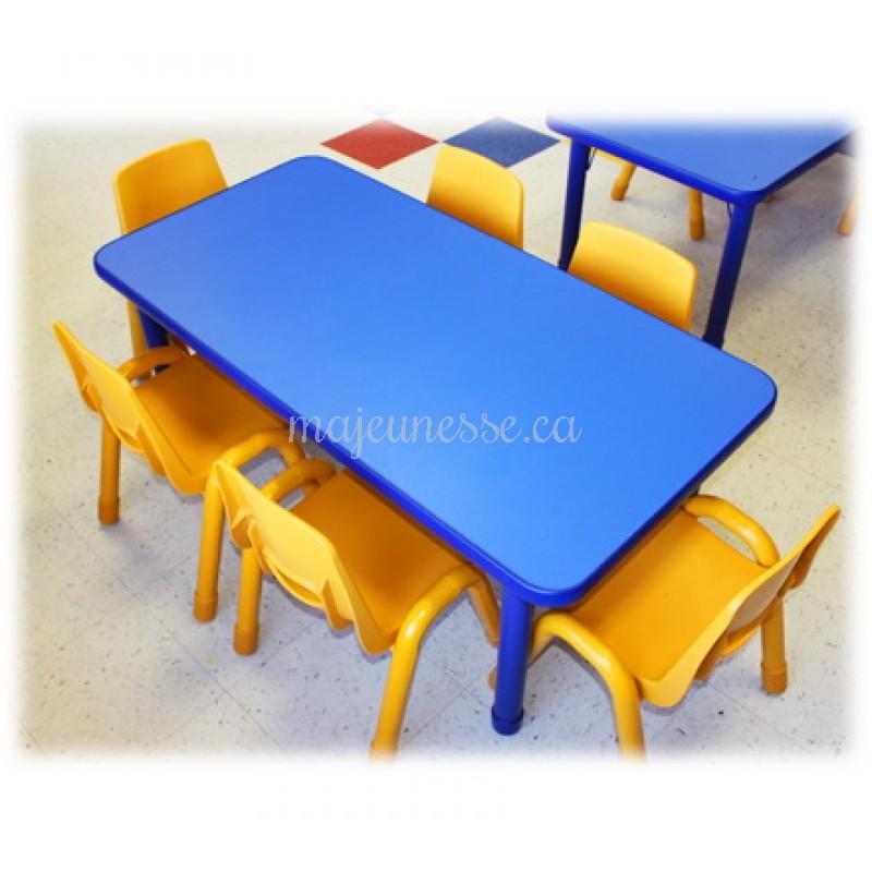 table 6 places bleue hauteur ajustable tables tables chaises. Black Bedroom Furniture Sets. Home Design Ideas