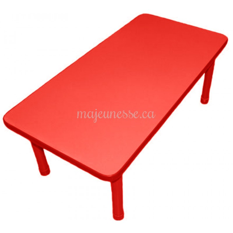 Table 6 places rouge hauteur ajustable tables chaises for Table 6 places