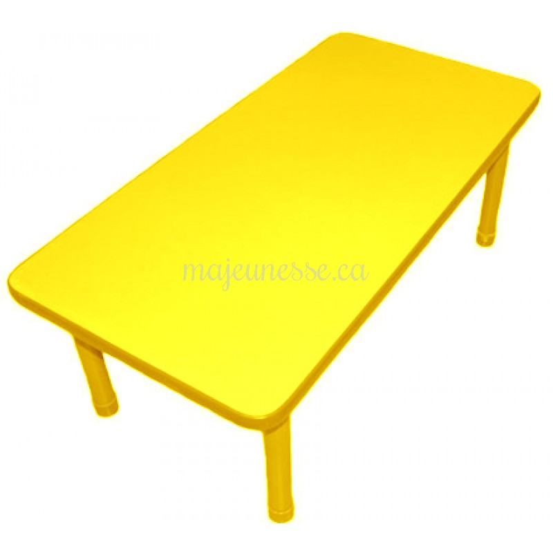 Table 6 places jaune 45 cm tables tables chaises for Table 6 places