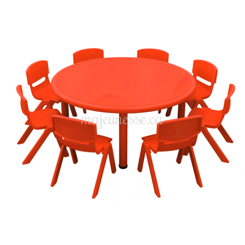 table circulaire 8 places rouge 50 cm. Black Bedroom Furniture Sets. Home Design Ideas