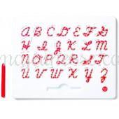Magnetic Uppercase Alphabet (cursive) - Magnatab