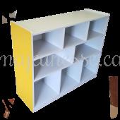 Toy Storage Unit - YELLOW - 100 cm