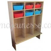 Coat rack/storage unit for 6 kids