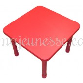 Table for 4 - RED - adjustable height